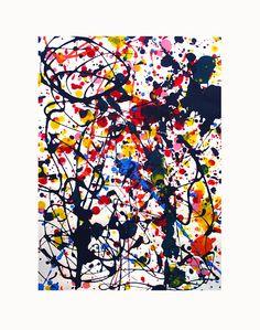 Jackson Pollock inspired  - Websites For Artists www.artistwebsitepro.com