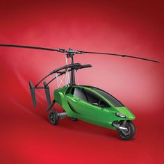 A three while motorcycle that can quickly convert into a flying gyrocopter, capable of reaching heights of up to 4000 feet. Perfect for escaping traffic. http://www.walletburn.com/Helicycle_859.html #luxury #vehicles #motorcycle