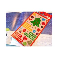 Cute Christmas stickers with golden details. Size 10x22 cm.