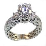 Sterling Silver Trilogy Wedding Ring - Engagement Ring