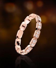 Chanel 18k pink gold & diamond ring