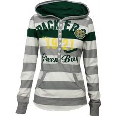 Green Bay Packers YAC Women's Striped Hoodie and other apparel, accessories and trends. Browse and shop 1 related looks. Packers Gear, Packers Hoodie, Packers Baby, Go Packers, Packers Football, Greenbay Packers, Football Season, Packers Season, Football Team