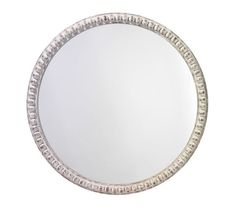 With its weathered whitewash finish, our Audrey Beaded Mirror brings casual style to a room. Wood Mirror, Round Wall Mirror, Mirror Art, Leaning Floor Mirror, Beaded Mirror, Frames On Wall, Round Beads, Pottery Barn, Powder Room