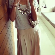 love the statement necklace