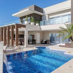25 most popular modern dream house exterior design ideas 25 Dream Home Design, Modern House Design, Pool Play, Future House, Home Building Design, Luxury Homes Dream Houses, Mansions Homes, Dream House Exterior, House Goals