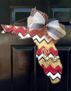 Florida State GO NOLES Doorhanger by PaintedPriss on Etsy, $35.00