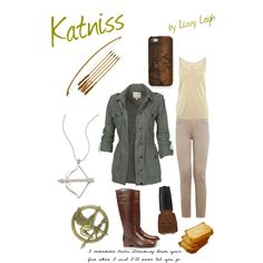 Katniss (note the bread) Hunger Games Outfits, Movie Outfits, Pin Up Outfits, Cool Outfits, Simple Street Style, Disney Inspired Fashion, Character Inspired Outfits, Fashion Ideas, Fashion Outfits