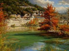 Autumn on the Frio by Mark Haworth Oil ~ 30 x 40