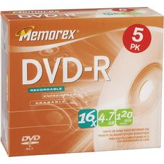 Introducing Memorex 5PK DVDR 16X 47GB  32025633 . Great Product and follow us to get more updates!