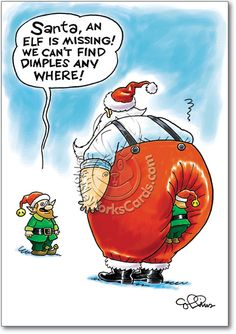 missing dimples funny christmas card collins - Funny Merry Christmas Greetings