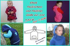 Doppelpack Ebook Hoodie Paul(ine) & Paul(inchen)  von For Mami & Me  auf DaWanda.com