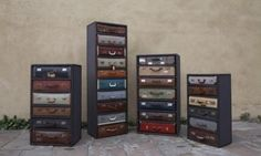 Suitcase drawers!  Super cute for travel themed room or accent!