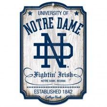 Notre Dame Fightin Irish Wooden Sign