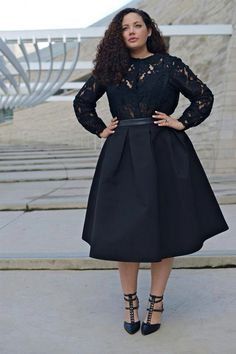 Make yourself update with trendy plus size fashion Plus Size Fashion (girl with curves) TISHYEZ Looks Plus Size, Look Plus, Curvy Plus Size, Plus Size Fashion For Women, Plus Size Women, Fashion Women, High Fashion, Hipster Fashion, Fashion Fall