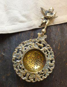 Vintage Brass Tea Strainer