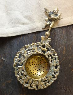 Vintage Brass Tea Strainer
