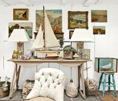 Decorating with Vintage Seascape Paintings