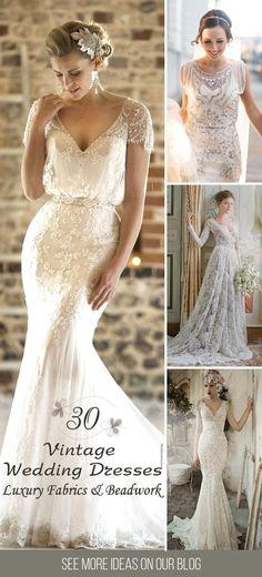 I really like the details on vintage dressses