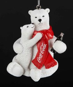 Another great find on #zulily! Coca-Cola Polar Bears Ornament by Coca-Cola  #zulilyfinds