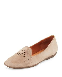 Erica Perforated Suede Loafer, Taupe by Gentle Souls at Neiman Marcus.