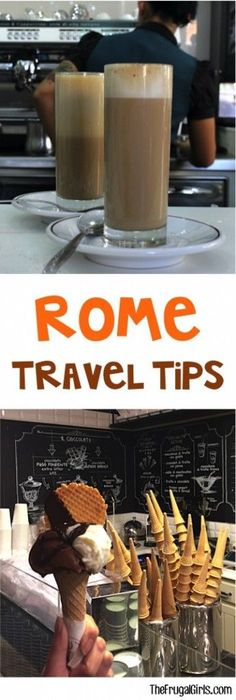 Top Rome Italy Food and Coffee Tips from http://TheFrugalGirls.com
