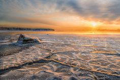 Frozen Finland - The sea has just frozen here and the temperature is degrees which makes the energy released from the sea into a fog. Amazing Nature, Finland, Deserts, Sea, Sunset, Landscapes, Outdoor, Frozen, Weather