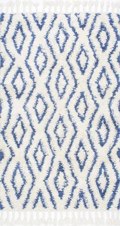 Savanna Moroccan Diamonds Shag Rug