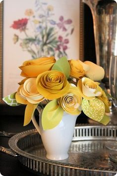 rolled paper flowers