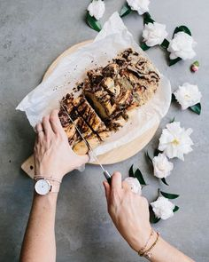 """1,968 Likes, 52 Comments - Tina (@thebarefoothousewife) on Instagram: """"Chocolate bread for tomorrow's Easter celebrations 🍫 - I used my cinnamon bun recipe & changed a…"""""""