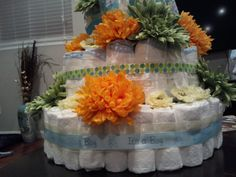 Diaper cake (close up)