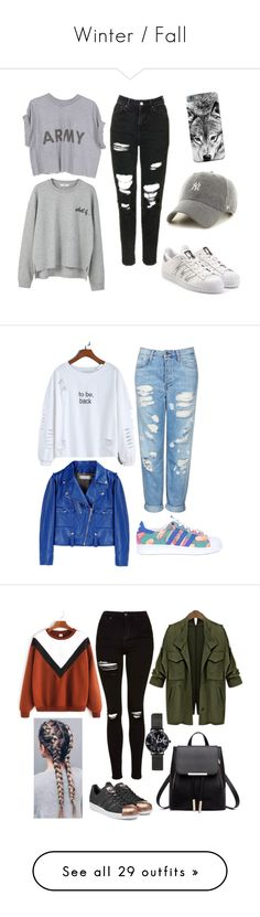 """Winter / Fall"" by veiinticuatro ❤ liked on Polyvore featuring MANGO, adidas Originals, '47 Brand, Topshop, Golden Goose, Balmain, Frye, Paige Denim, WithChic and Paolo Shoes"