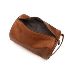 Tan Leather Wash Bag www.urbansafarilondon.com