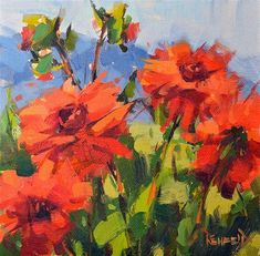 "Daily+Paintworks+-+""Flowery+Challenge""+-+Original+Fine+Art+for+Sale+-+©+Cathleen+Rehfeld"