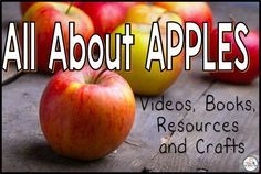 Apple videos, books, crafts and resources for kindergarten