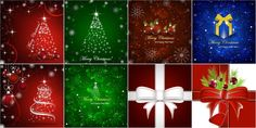 New Year and Christmas backgrounds, Christmas tree backgrounds vector
