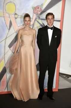 Monaco Royal Family attended the Rose Ball 2014 in aid of the Princess Grace Foundation at Sporting Monte-Carlo in Monte-Carlo