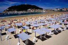 San Sebastian, Spain  The first place I felt powder soft sand!