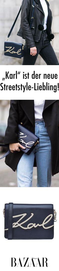 Karl to go! Das ist die neue Tasche von Karl Lagerfeld Karl Lagerfeld Taschen, Karl Lagerfeld Shoes, Laura Ashley, Trends 2018, Classic Cocktails, Curvy Fashion, Must Haves, To Go, Street Style