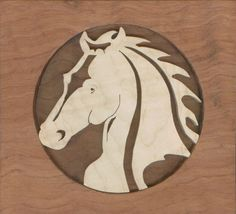 lion scroll saw puzzle patterns | Scroll Saw Horse Wall Plaques Left