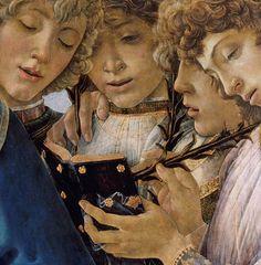 Detalle cuadro de Botticelli. #reading, #books