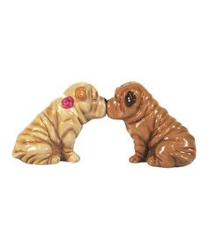 Take a look at this Shar Pei Salt & Pepper Shakers by Westland Giftware on #zulily today!