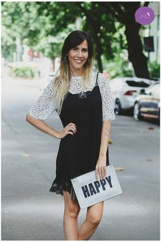 Trend Alert: Vestido Slip sobrepondo blusa de tule!😍💜