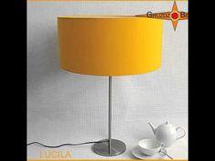 """Lampenset """"Lucilla"""" Lampenschirm in trendigem Großformat in Sonnengelb: Der Lampenschirm LUCILA hat die Wirkung eines sonnendurchfluteten Sommertags."""