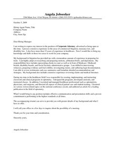 attorney cover letter format for writing an application