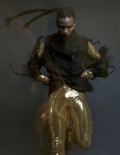 compelling image from androgyny fashion shoot