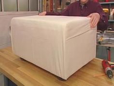 How to Make a Dog Ottoman and Slipcover >> http://www.hgtv.com/decorating/how-to-make-a-dog-ottoman-and-slipcover/index.html?soc=pinterest