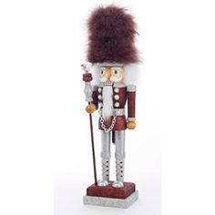 """15"""" Hollywood Brown Soldier Decorative Wooden Christmas Nutcracker"""