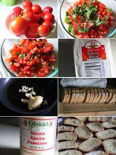 How to make bruschetta How To Make Bruschetta, Dinners, Meals, Yummy Yummy, Chana Masala, Food Hacks, Italian Recipes, Dinner Ideas, Recipes