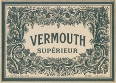 vintage French vermouth label