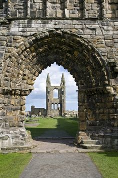 St. Andrews cathedral ruins, Fife, Scotland.  12th c.